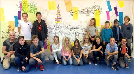 CJT-Schülerinnen und -Schüler gestalteten neues Literaturtage-Transparent